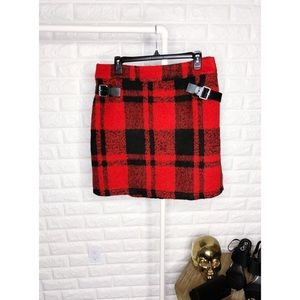 ASOS Plaid Flannel Skirt with Belt